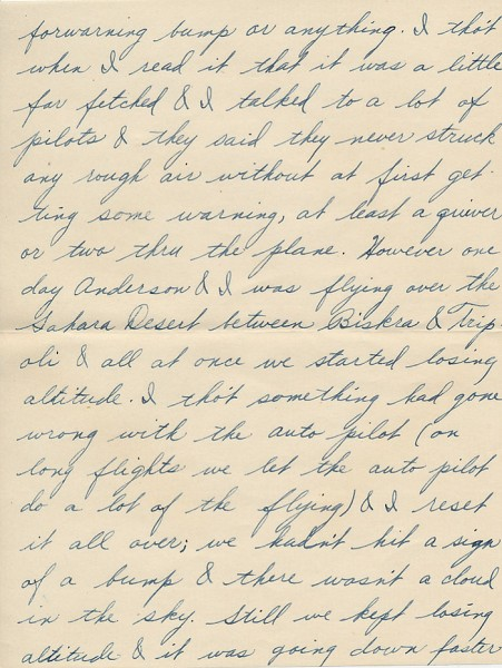 Letter from David to his sister Aileen from Paris during World War II. Page 3 of 6. Select the image for a larger view.