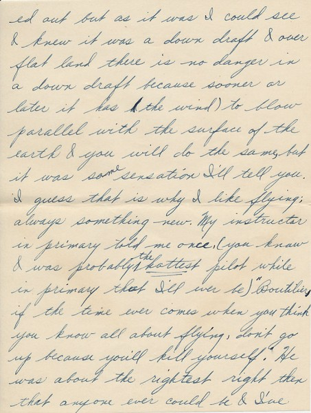 Letter from David to his sister Aileen from Paris during World War II. Page 5 of 6. Select the image for a larger view.