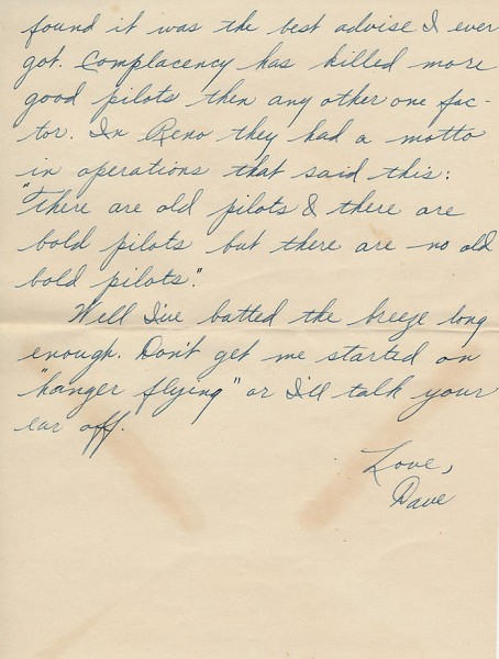 Letter from David to his sister Aileen from Paris during World War II. Page 6 of 6. Select the image for a larger view.