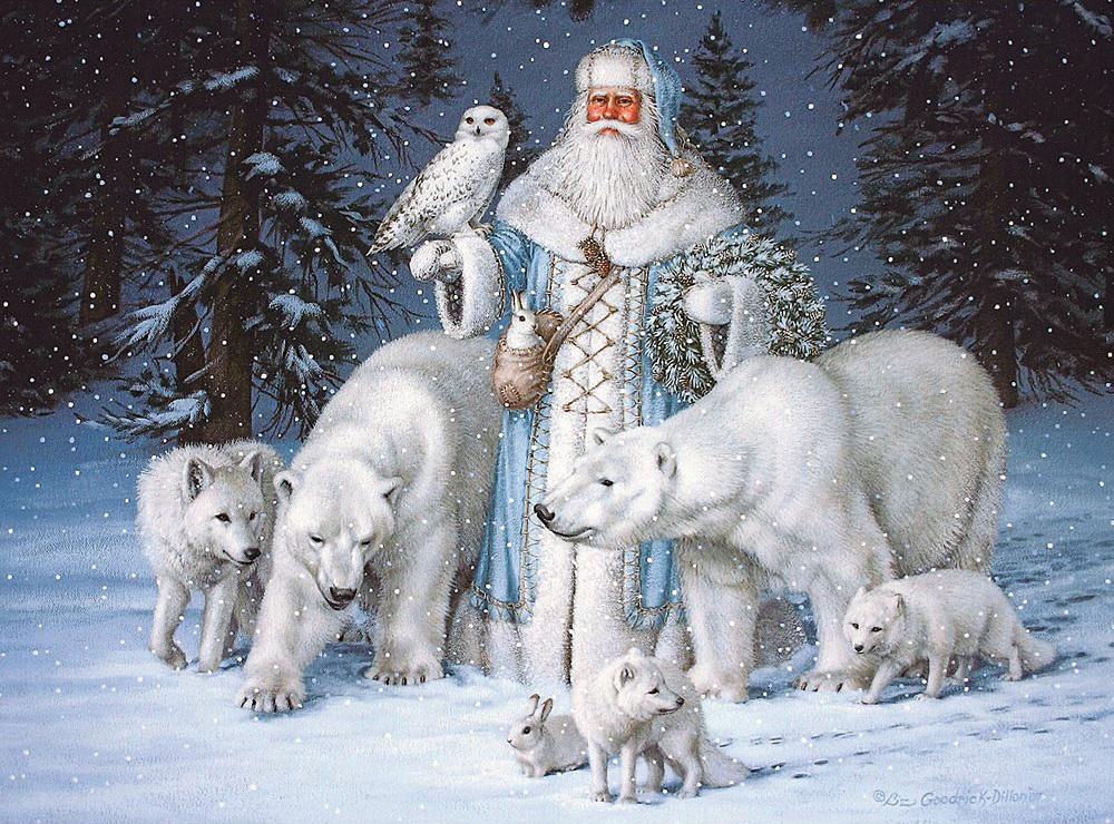 Своими руками, рождественские открытки с животными