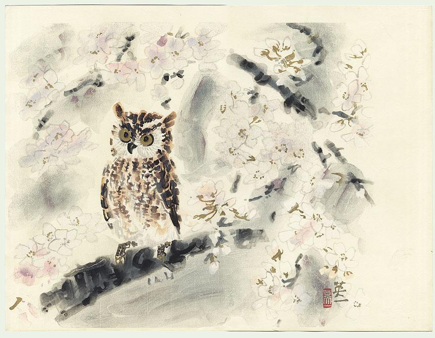 японская сова рисунок постоянно испытывает