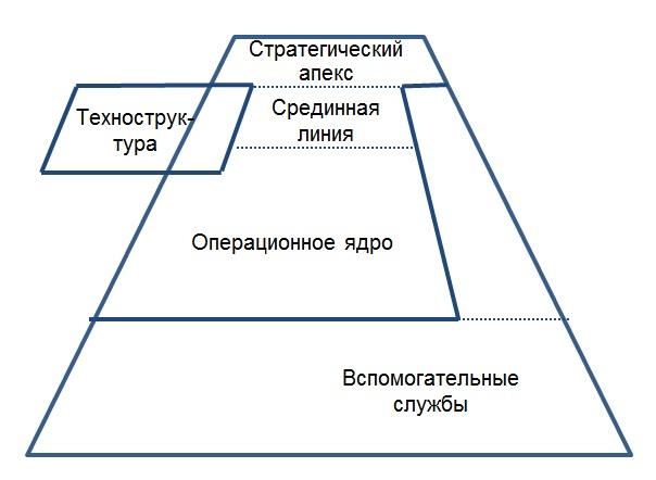Структура организации профессиональная бюрократия.jpg