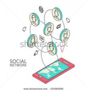 stock-vector-conceptual-image-with-social-networks-flat-isometry-vector-illustration-eps-245585095