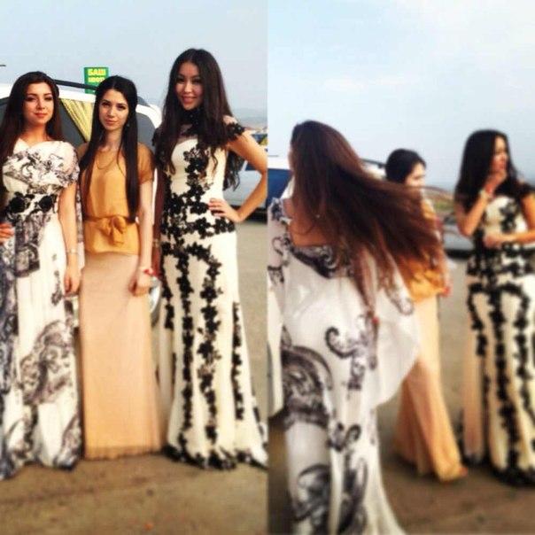 Платья в пол дагестанские