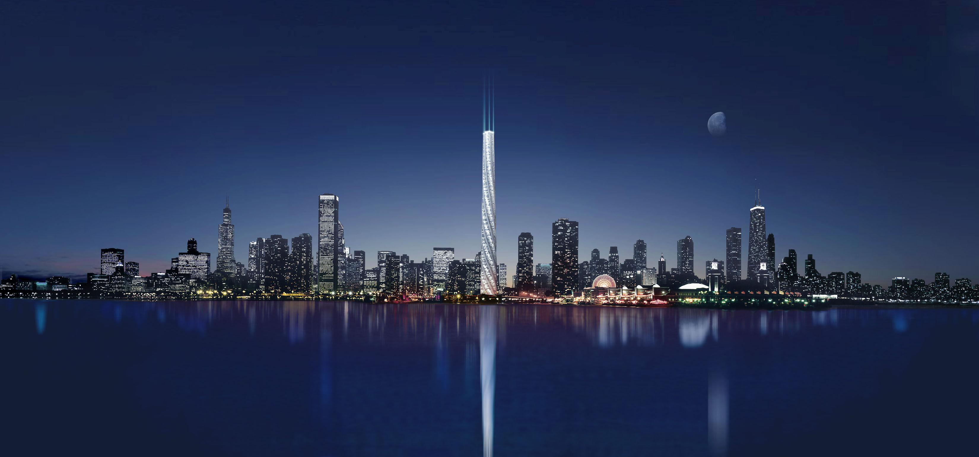 Небоскреб Сверло (Chicago Spire) фото