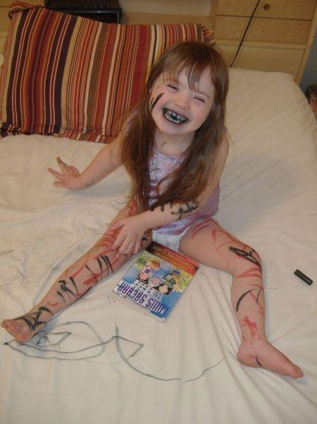 креативная девочка
