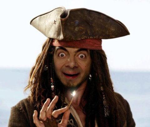 мистер бин пират карибского моря