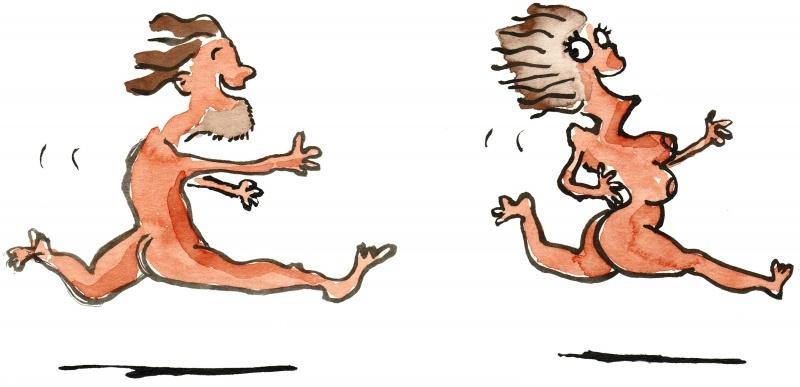 рисунок обнажённые мужчины и женщины