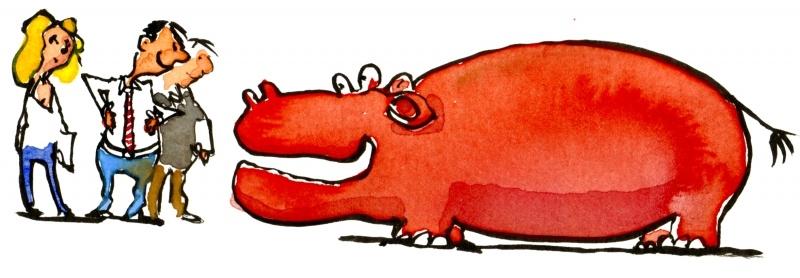 красный гиппопотам