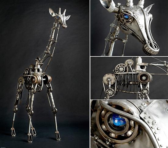 жираф-робот