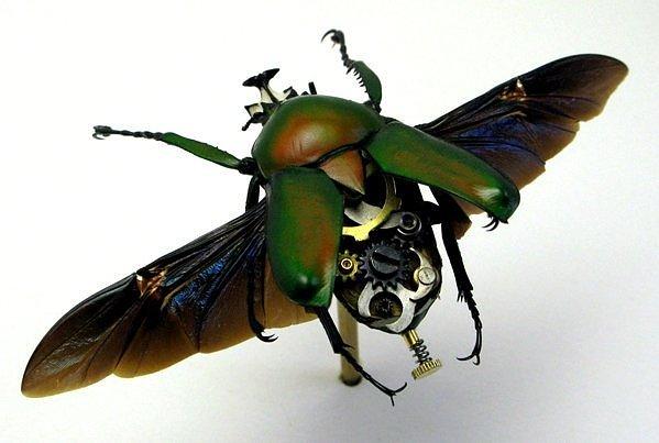 Механический рогатый жук