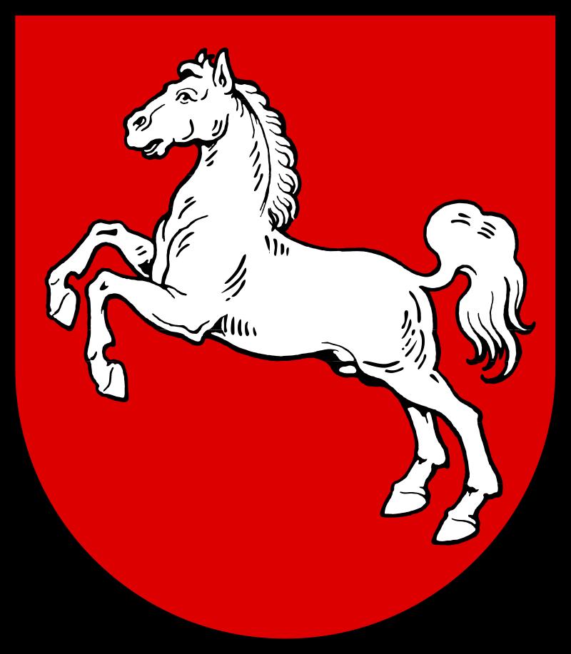 герб федеральной земли Нижняя Саксония