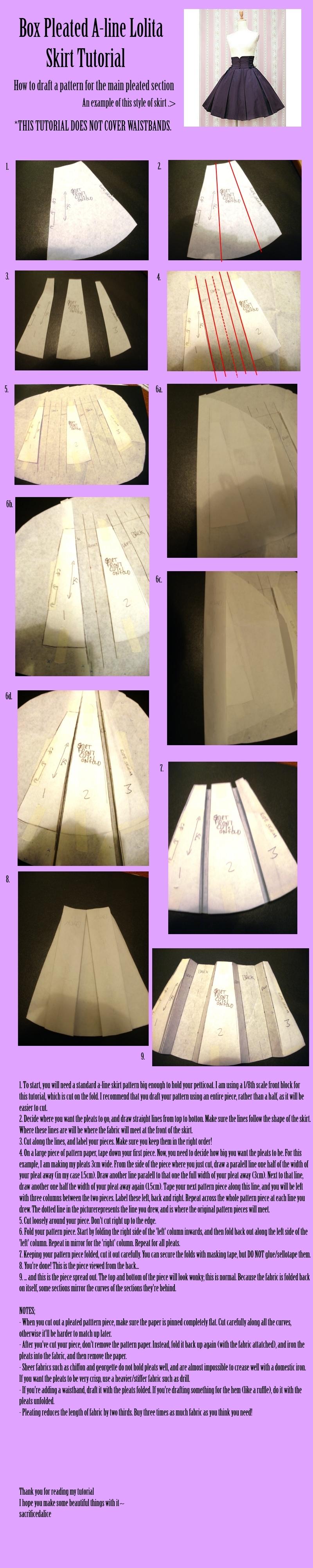 Box Pleated A-line Skirt