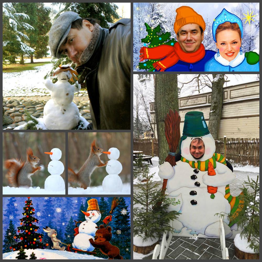 Существует поверье, что снеговики – это небесные ангелы.