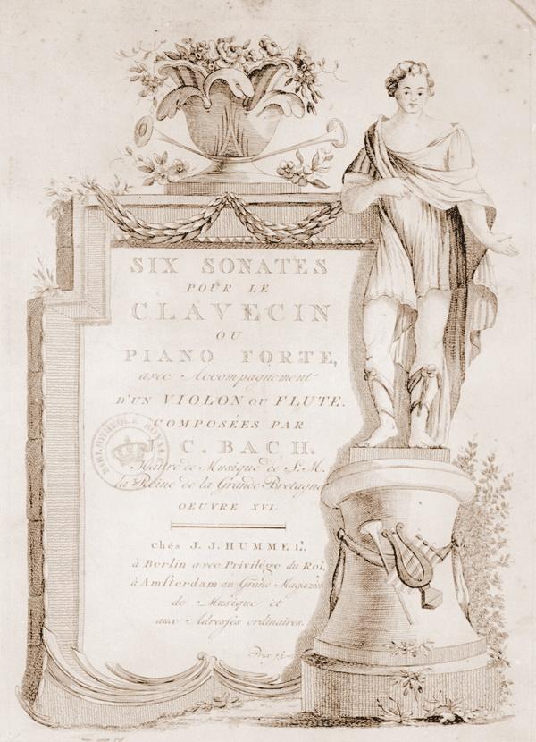 Страницы из op.16,Six sonates pour le p-f avec accomp d'un violon ou flûte... Oeuvre XVI -J.-J. Hummel (Berlin)-1785
