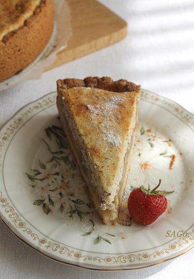 Пирог с ревенем и кисель 020