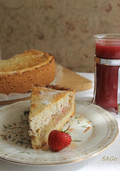 Пирог с ревенем и кисель 022