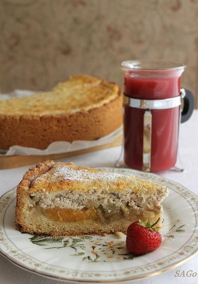 Пирог с ревенем и кисель 006