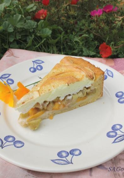 Пирог с ревенем и безе 028