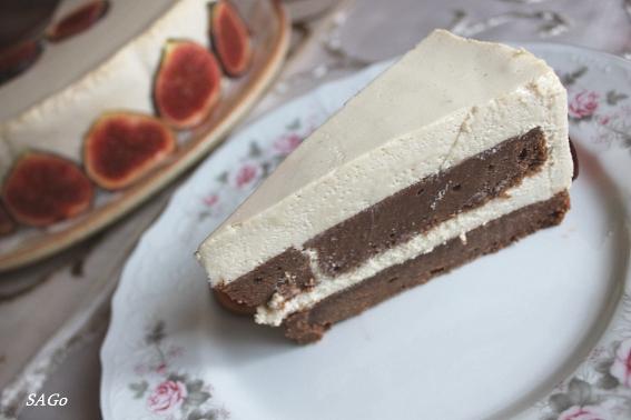Торт с кофе и инжиром 036