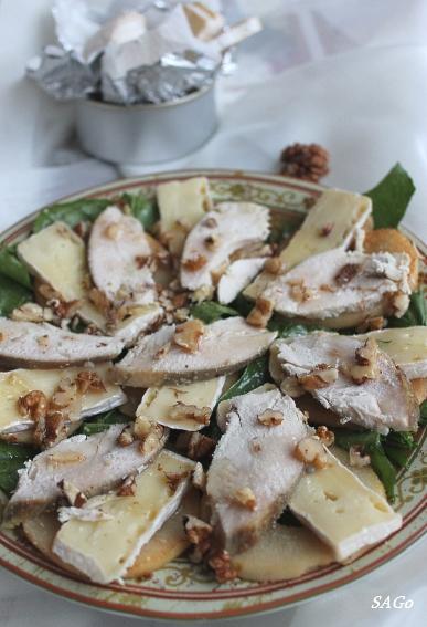 Салат с грушами и сыром бри 005