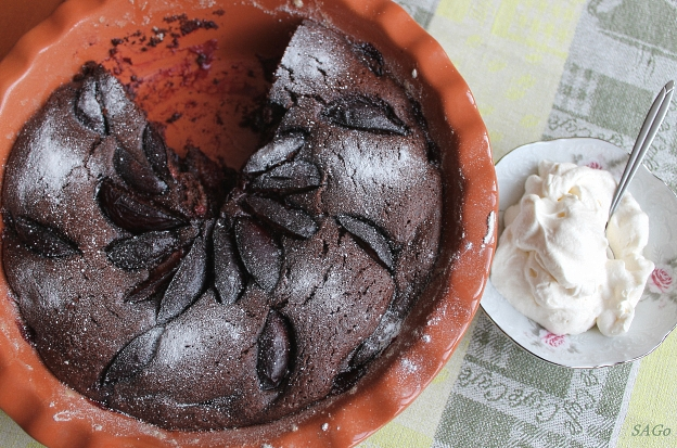 Копия Шоколадный пирог со сливой 034