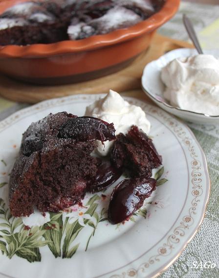 Копия Шоколадный пирог со сливой 029