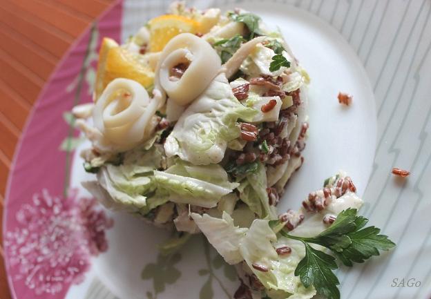 Копия Салат с кальмаром и красным рисом 004