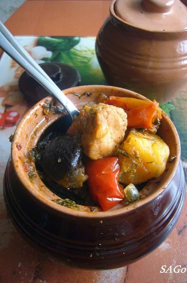 рецепты для горшочков в духовке с овощами