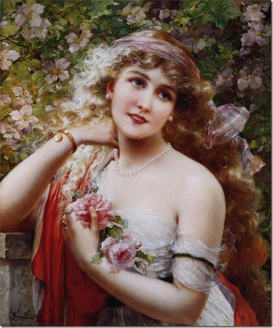 девушка с розами 1913