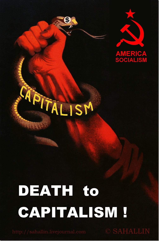 Смерть капитализму,Death to capitalism,Америка,сщциализм,America,socialism,Сталин,Stalin,плакат,СССР,Россия,США,poster,USSR,Russia,USA,sahallin