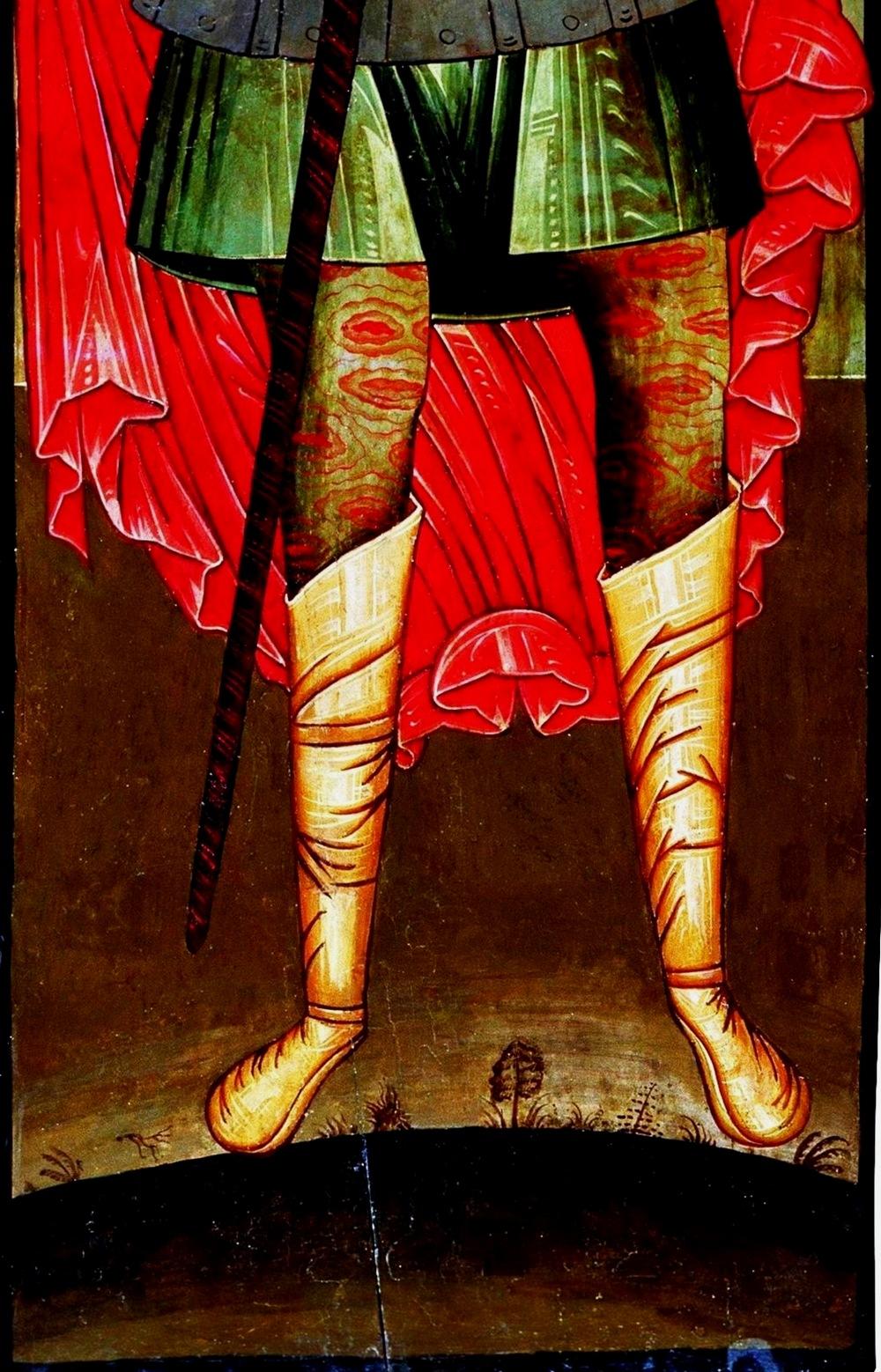 Икона Мученик Христофор Псеглавец 17 век.Часть 2