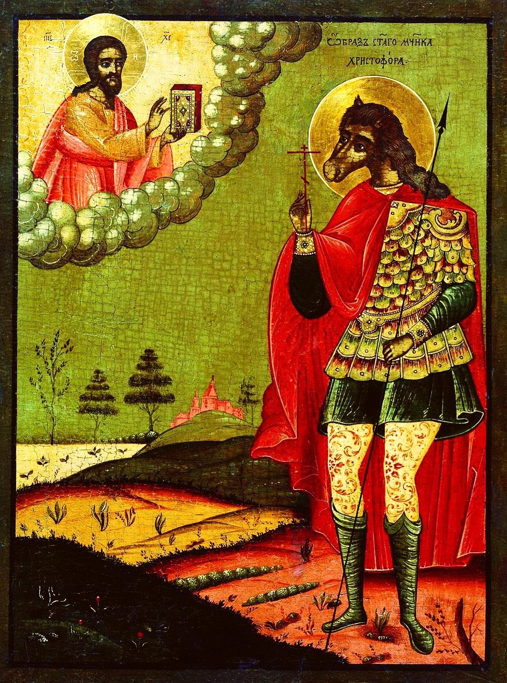 Икона Святой Мученик Христофор XVII век
