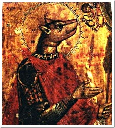 Святой Христофор. Греческая икона