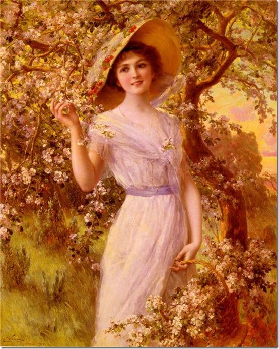 девушка у вишни 1916