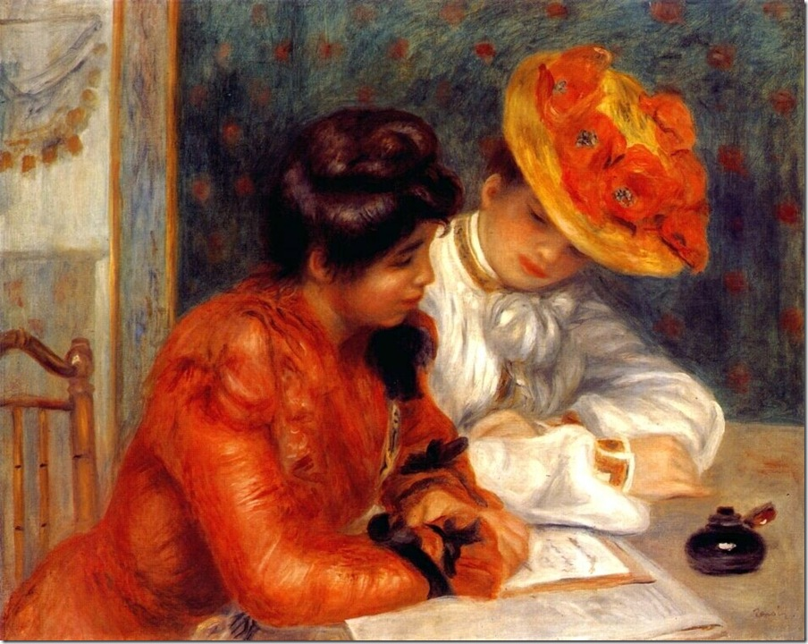 Пьер Огюст Ренуар # renoir the letter 1895-1900