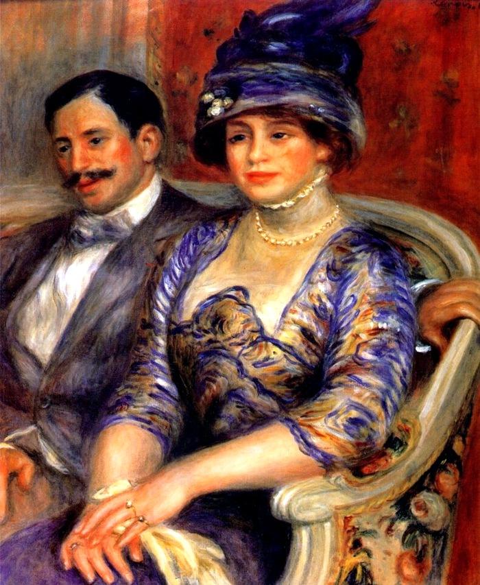Пьер Огюст Ренуар # renoir monsieur and madame bernheim de villers 1910