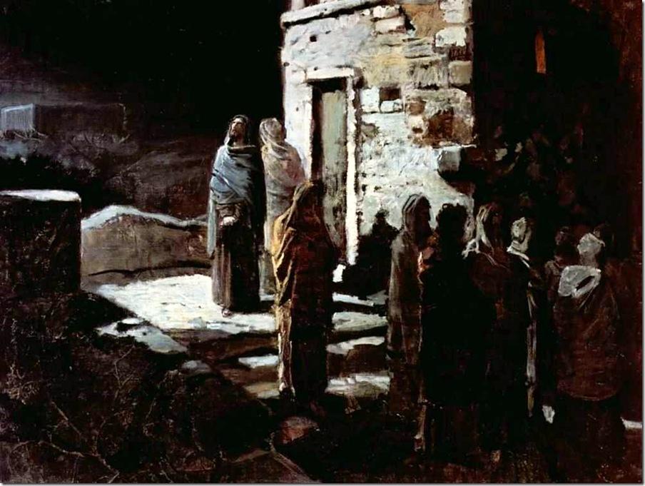 Ге Н. Христос с учениками входит в Гефсиманский сад. 1888 год