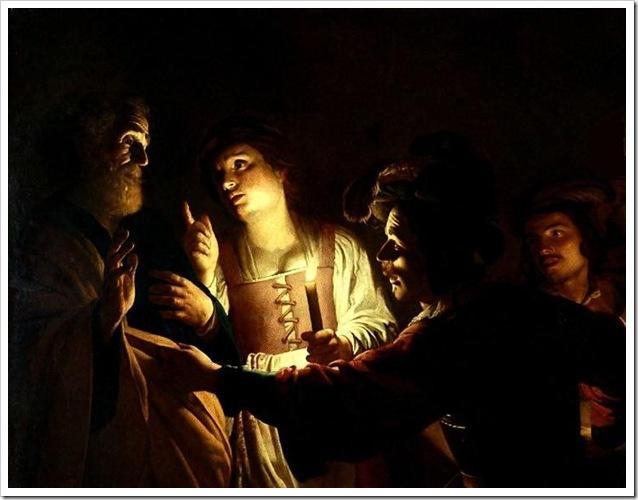 Хонтхорст Отречение апостола Петра, ок.1612-1620,