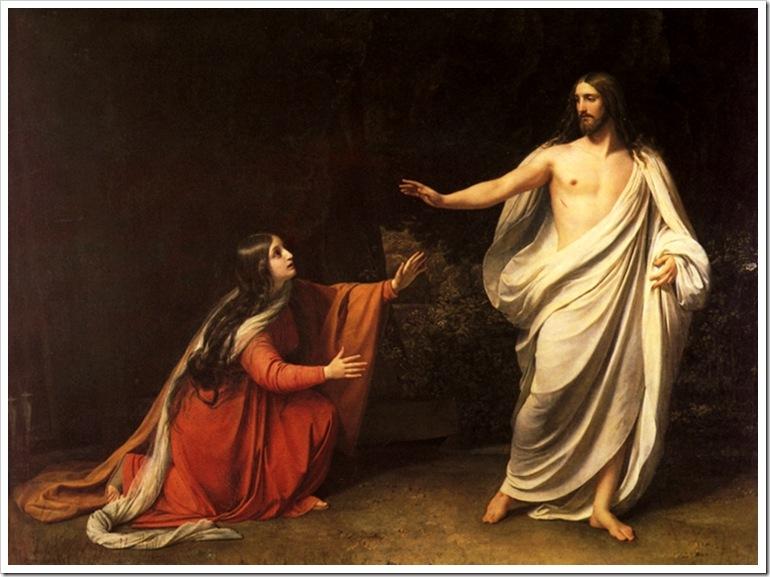А Иванов.Явление Христа Марии Магдалине 1835 год
