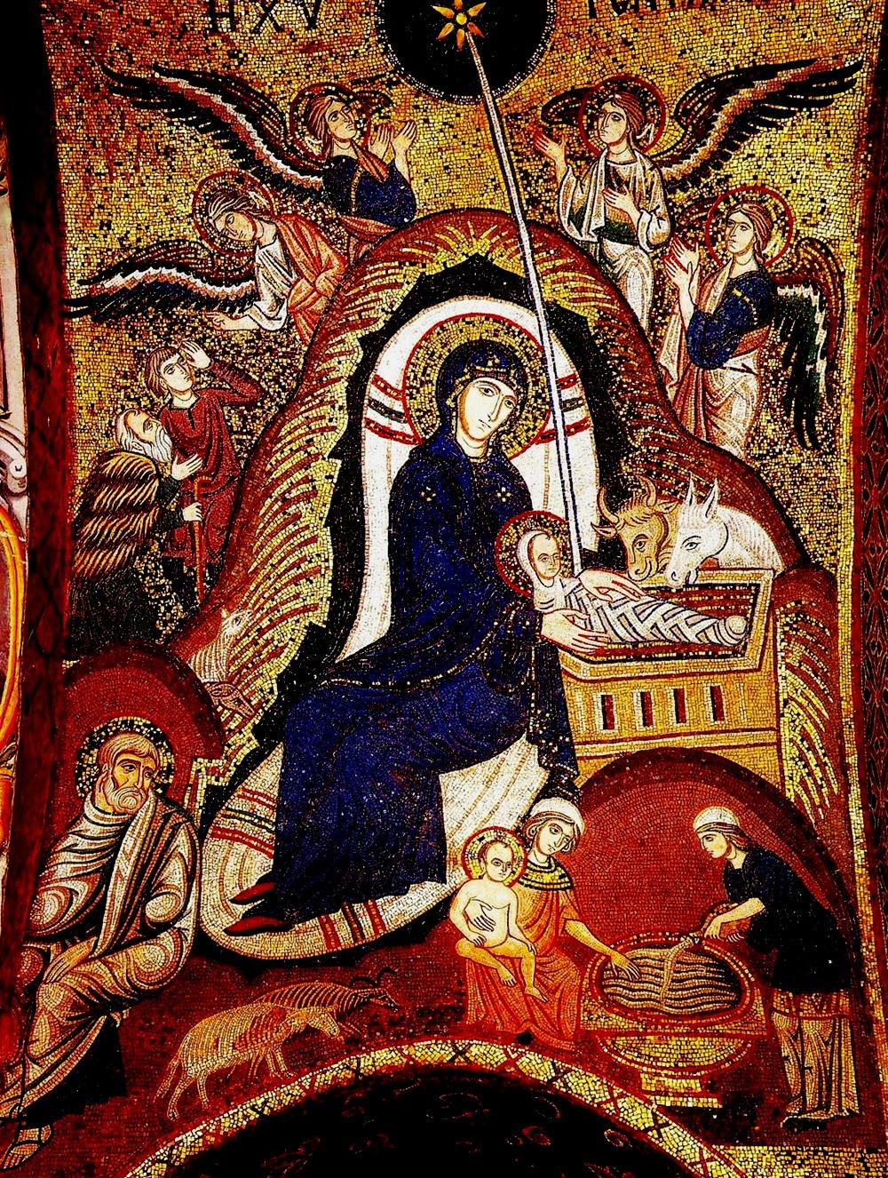 Мозаика церкви Марторана в Палермо. 1146–1151 г. Италия-2