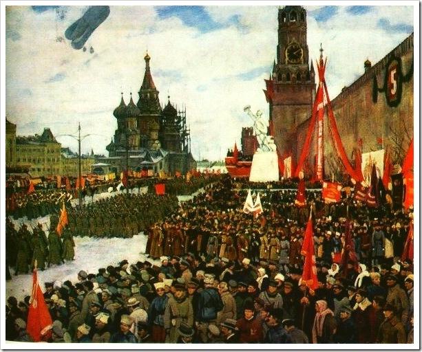 К. Юон. Парад Красной армии. 1923
