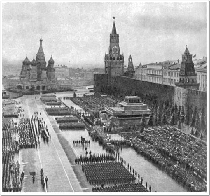 Парад Красная площадб 1945