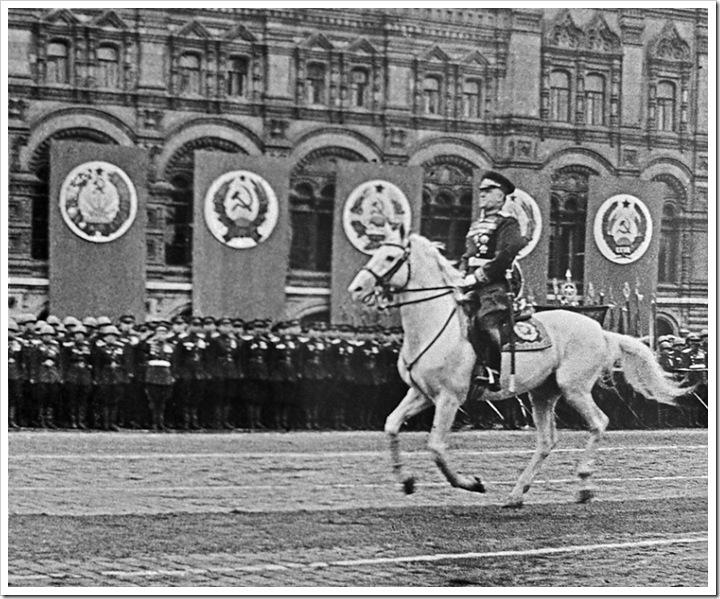 Маршал Советского Союза Г.К.Жуков на Параде Победы 24 июня 1945 года