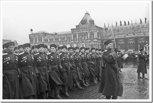 Москва. Казаки на параде Победы на Красной площади