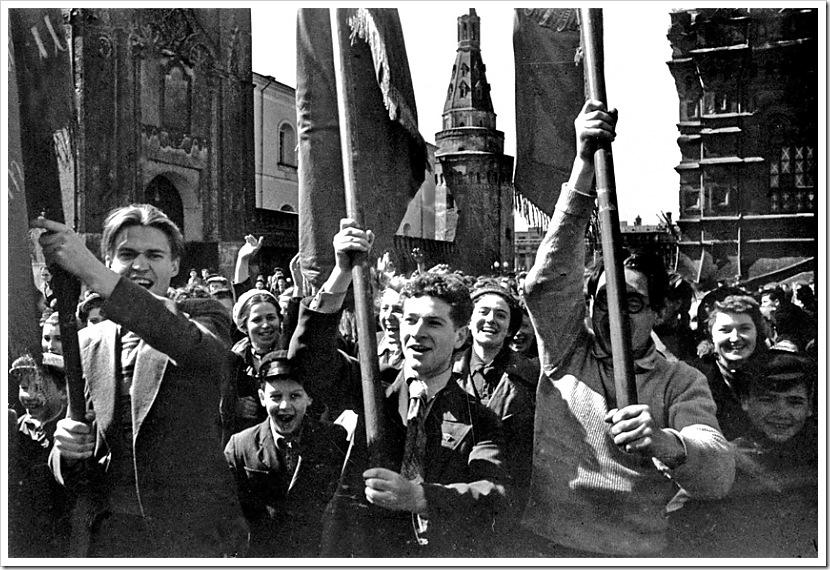 Праздник Победы в Москве, 1945 г. 9 мая
