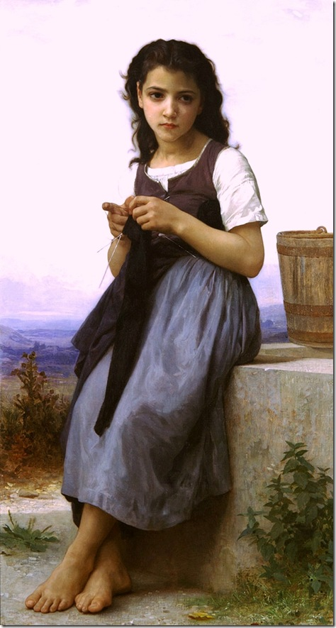 bouguereau_william_the_little_knitter_1884La Tricoteuse [The Little Knitter]-2