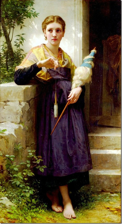 bouguereau_william_the_spinneFileuse [The Spinner]1873