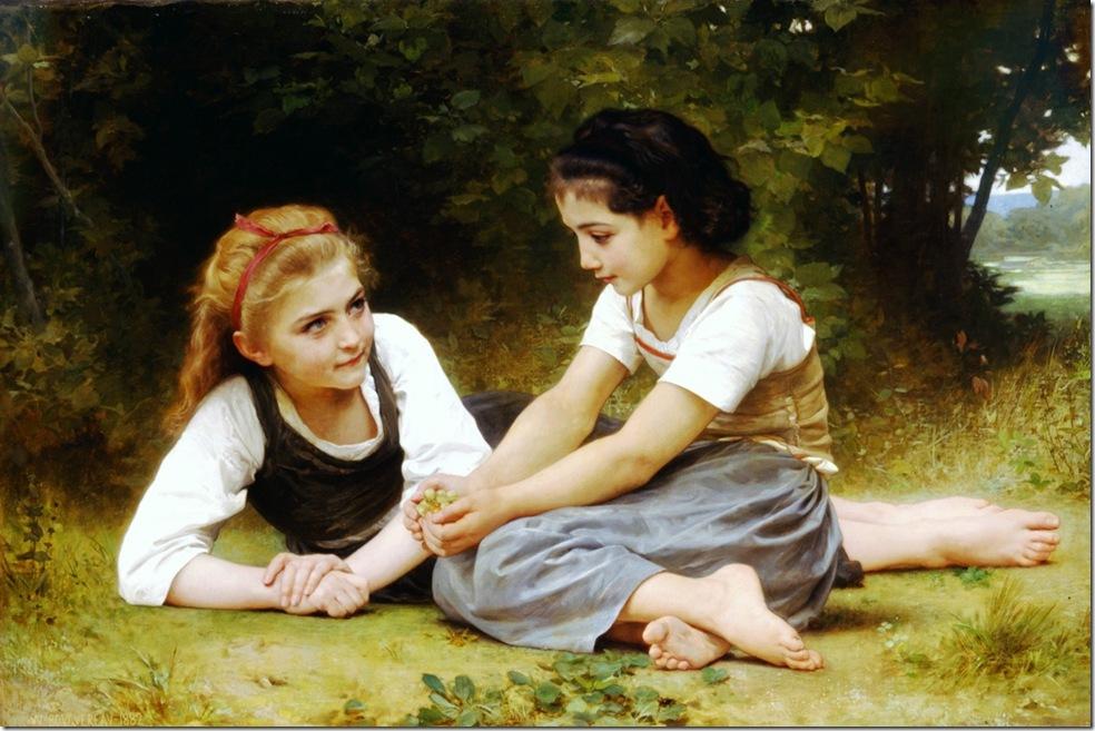 bouguereau_william_hazelnutsLes Noisettes [Hazelnuts]1882