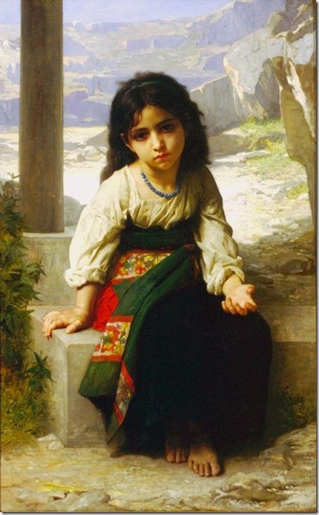 bouguereau_william_the_little_beggarPetite mendiante [The little beggar]1880